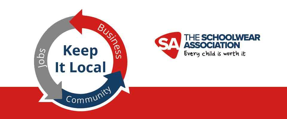 The Schoolwear Association - Keep it local banner