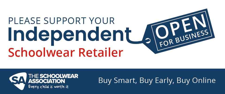 The Schoolwear Association - support your independent schoolwear retailer banner