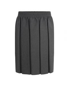Box Pleat Skirt- Grey