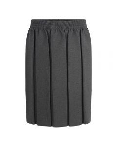 Box Pleat Skirt- Grey