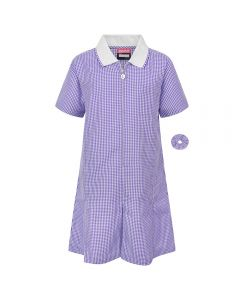 Girls Summer School Dress Purple