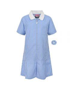 Girls Summer School Dress Blue